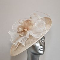 Mother of  Bride Hatinator in Gold & Ivory 15776A/SD760